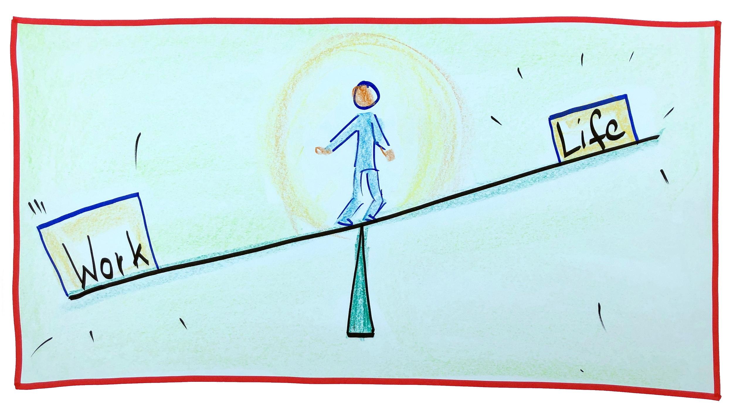 Finde deine Balance: Work-Live-Balance